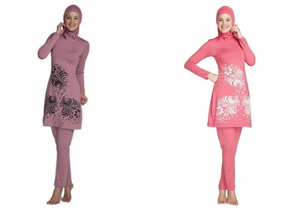 Women Plus Size print Muslim Swimwear 2017 New Swimsuit for Muslim Womem Swimwear Islamic Swimsuit swimsuit muslim swimwear for women 2017 new swimsuit swimwear islamic arab muslim woman beach swimsuit size l 5xl