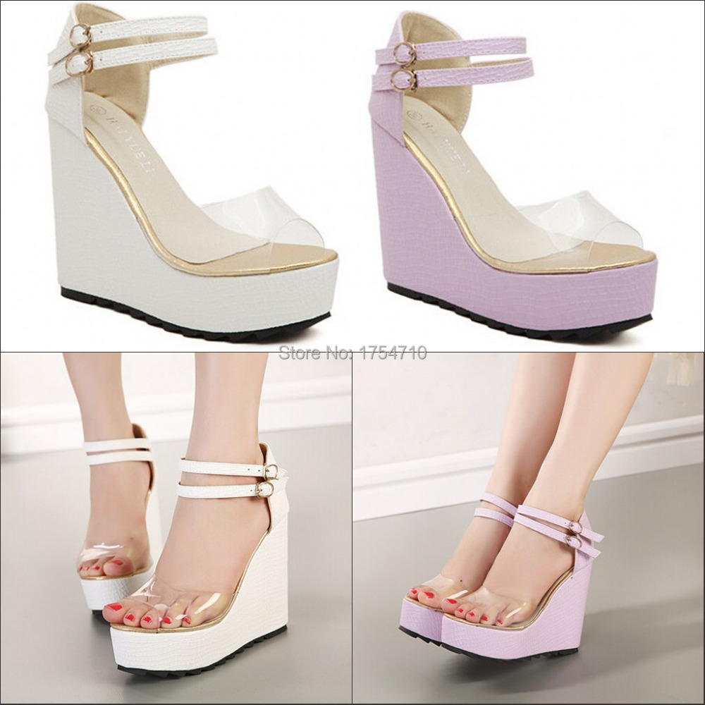 Fashion sandals on a wedge