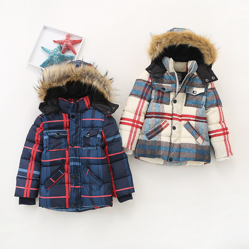 High Quality Children Winter Coats Thicker in the long style Boys Cotton Jackets Wholesale Girls Down Jackets Outwear Beige Navy high quality children down coats 2017