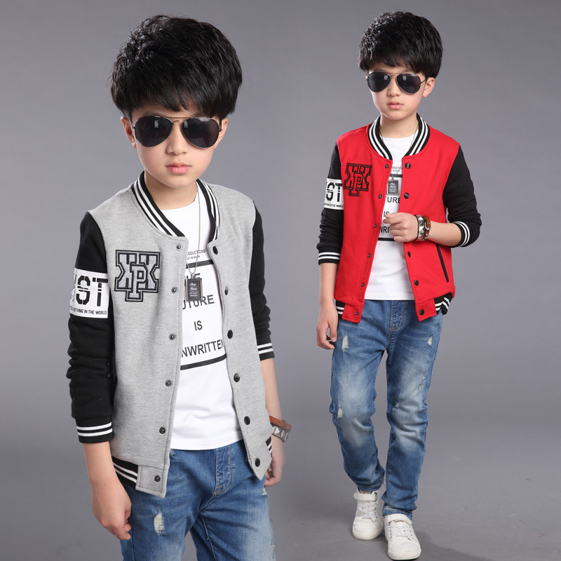 New Brand 2016 Spring Autumn Baby Boys Jacket for Kids Children Fashion Long Sleeve Casual Letter