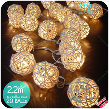 20 Latterns Leds 2.2M Creamy Warm White Fairy String Christmas Tree Lights Outdoor for Weddings Natal Garden Holiday Decoration