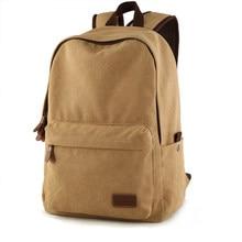купить Korean Style Fashion Casual Laptop Backpack Men High Quality Canvas Travel Backpack Women Solid Color Simple Designer School Bag по цене 1909.99 рублей