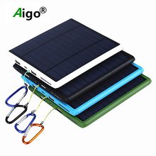 10000mah Large Capacity Dustproof Solar Power Bank Dual USB Travel Battery Charger Power Supply for Mobile Phones For iphone se