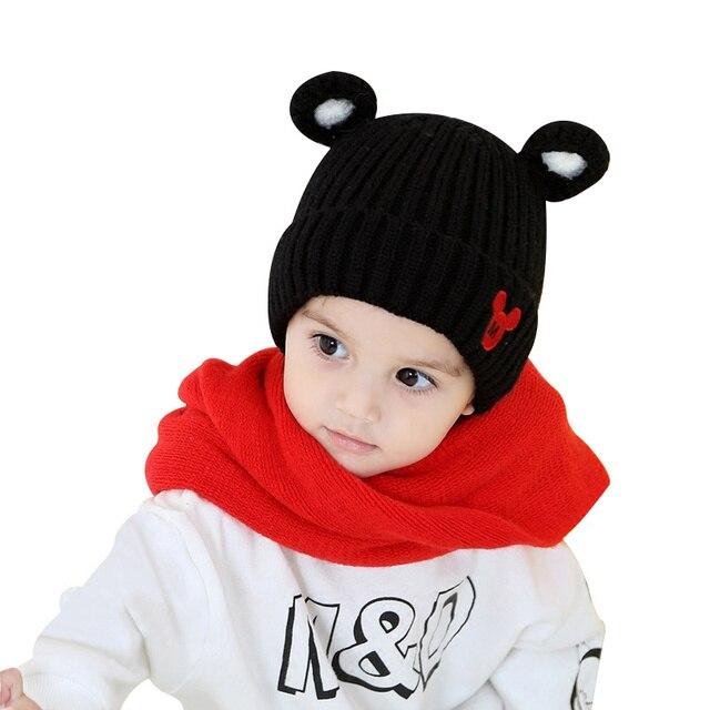 Patrón de la historieta del bebé sombrero hecho punto invierno ...