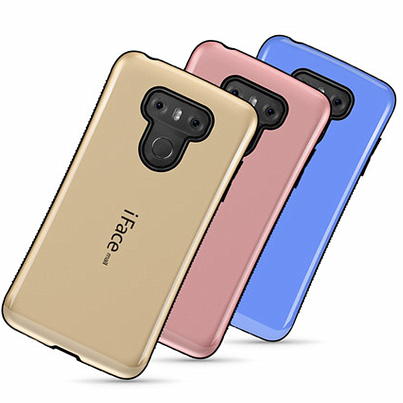 For LG G6 Soft Silicone Back Cover 2 Layers Impact TPU PC Shockproof Case for LG G6 5.7