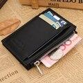New Fashion Brand Wallet Men Wallet Ultrathin Mini Wallet Men Purse Zipper Coins Wallet Credit Card Holders Card Case