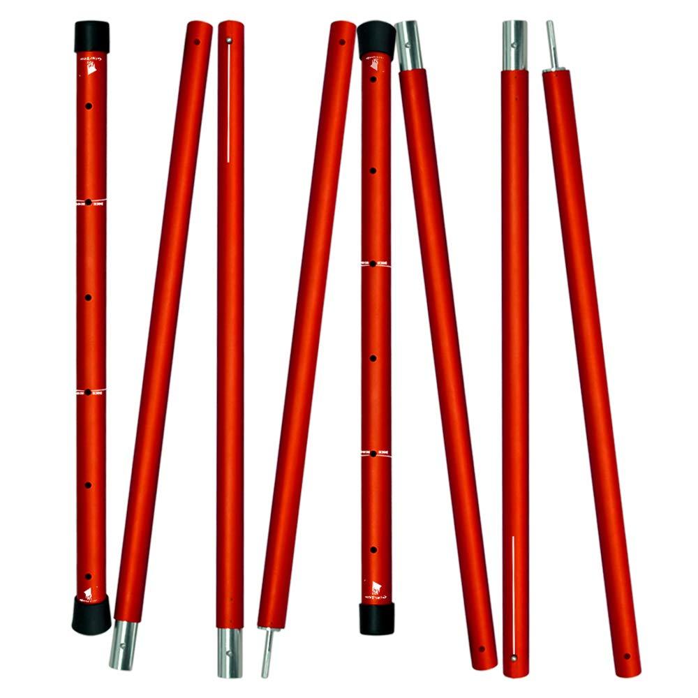 GeerTop En Aluminium Réglable Polonais Soutiennent Pôle Pôles Bâche Télescopique Tige Tente Pôles, pour Auvents, Hamacs, ou Pique-Nique