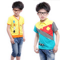 2014 New 100% O'dell Cotton Children Boy's T-Shirt Tees, Kids Boy's Tops, For Height 100-130, 6 Styles Option