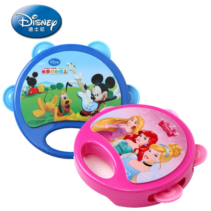 Genuine Disney childrens musical toy For children one-sided drummer rattle baby musical  ...