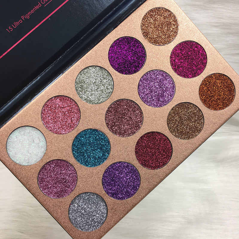 Beauty Glazed 15 Colors Glitter Injections Pressed Glitters Eyeshadow  Diamond Rainbow Makeup Eye Shadow Magnet Palette Cosmetics