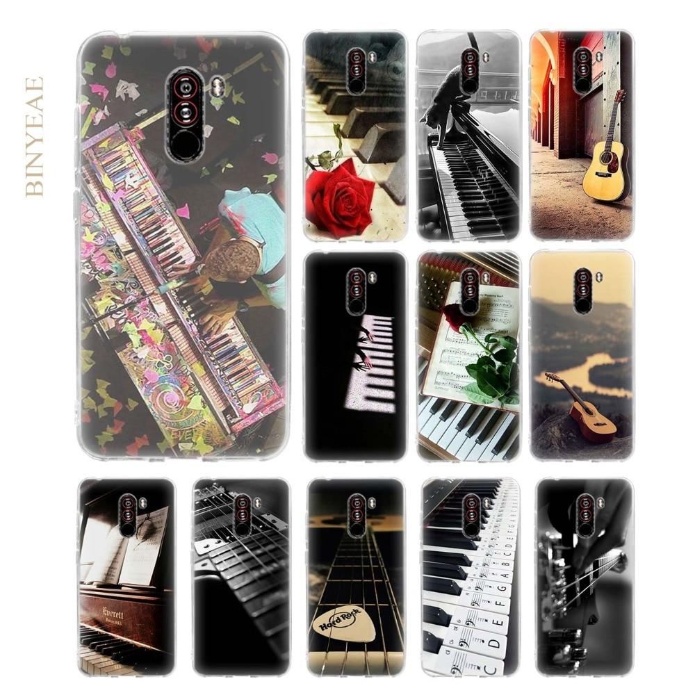 Guitar violin Music Soft Transparent TPU Phone Cases Coque Shell for Xiaomi Pocophone F1 6.18 inch
