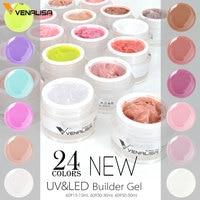 #60915 Venalisa 15ml camouflage jelly gel transparent pink white buider gel uv extend gel