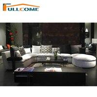 Sofas Luxury Home Furniture Modern Fabric Scandinavian Sofa Living Room Italian Corner Sectional Sofa Stool Feather Down Couches