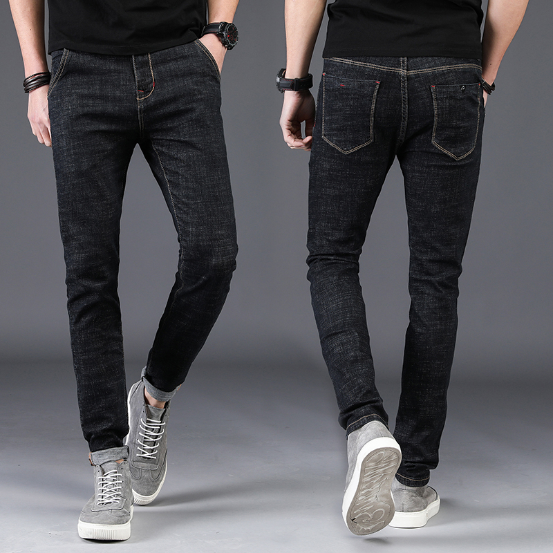 Men   Jeans   Homme Men'S Classic Black Blue Pantalones Vaqueros De Los Hombres Man Fashions Joggers Slim Fit Hiphop Biker Skinny