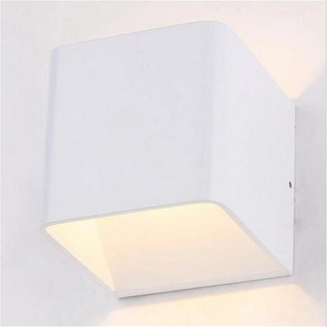 Modern LED Square Cube Lights L& LED Wall L& 6W Wall Sconce White Indoor Lighting for & Modern LED Square Cube Lights Lamp LED Wall Lamp 6W Wall Sconce ...
