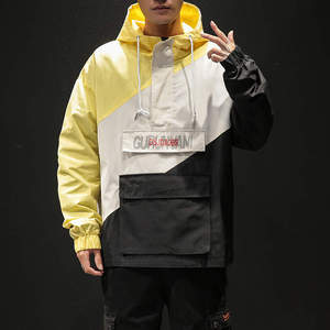 Image 4 - Mens Anorak Jackets Men Hip Hop Outwear Spring Sport Windbreaker Casual Outdoor men Autumn Fall Coat Streetwear Top 5XL