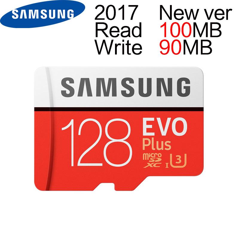Prix pour Samsung 2017 max r 100 mb/s w 90 mb/s mémoire tf 128g carte nouvelle version evo plus c10 microsd cartes u3 flash