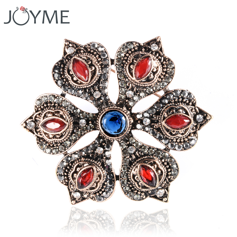 Ustar Fashion Hat Brooches For Women Pins Gold Color Blue: Fashion Broches For Women Brooches Hat Pins Metal Scarf