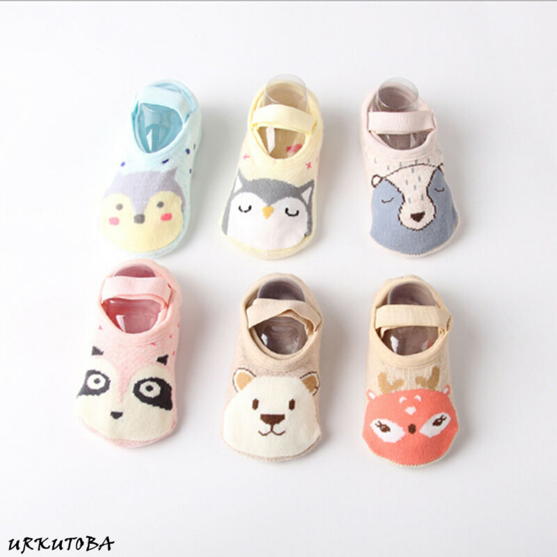 2019 New Fashion Baby Boys Girls Kids Cute Cartoon Anti Slip Ankle Socks Cotton Anti-slip Shoe-like Socks 1-3Y  Soft