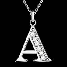 A-S с буквами,, посеребренное ожерелье, штамп 925, модное серебряное ювелирное изделие, Модный кулон/XYLQNNAG