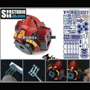 Image 3 - SH Phòng Thu 1/100 MG SAZABI Ver.Ka Kasha Sharjah Gundam Kim Loại Đặc Biệt Khắc Tấm Hình Hành Động Mô Hình Chi Tiết Sửa Đổi Sửa Chữa