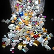 LCJ 1 Bottle Mix Shape Punk Metal Rivet Nails Art Decoration Neon Stud UV Gel DIY Design Jewelry For Women Manicure #PZ-59