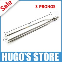 Free Shipping Small Stainless Steel 8mm Standard Thread 3 Prongs Ice Fishing Spear Head For Winter