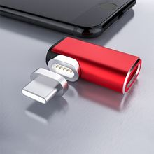 Type C Magnetic Adapter Converter USB-C Cable 90 Degree Charging Connector for Apple Macbook