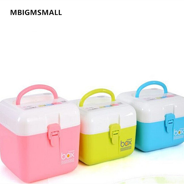 MBIGMSMALL Candy Color Cosmetics Plastic Storage Box Makeup Organizer With Handle Lock Catch Storage Case Blue  sc 1 st  AliExpress.com & MBIGMSMALL Candy Color Cosmetics Plastic Storage Box Makeup ...