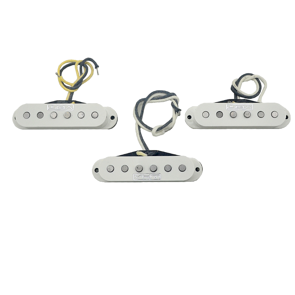 Free shipping Set of 3 Pickups Alnico Vintage Single Coil Pickup white For Electric Guitar Parts Pickups kmise single coil pickup for electric guitar parts accessories bridge neck set black with chrome gold frame
