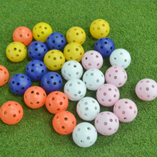 100Pcs Golf Hole Hollow Practice Balls Indoor Practice Training Balls Golf Training Aids – Color Random