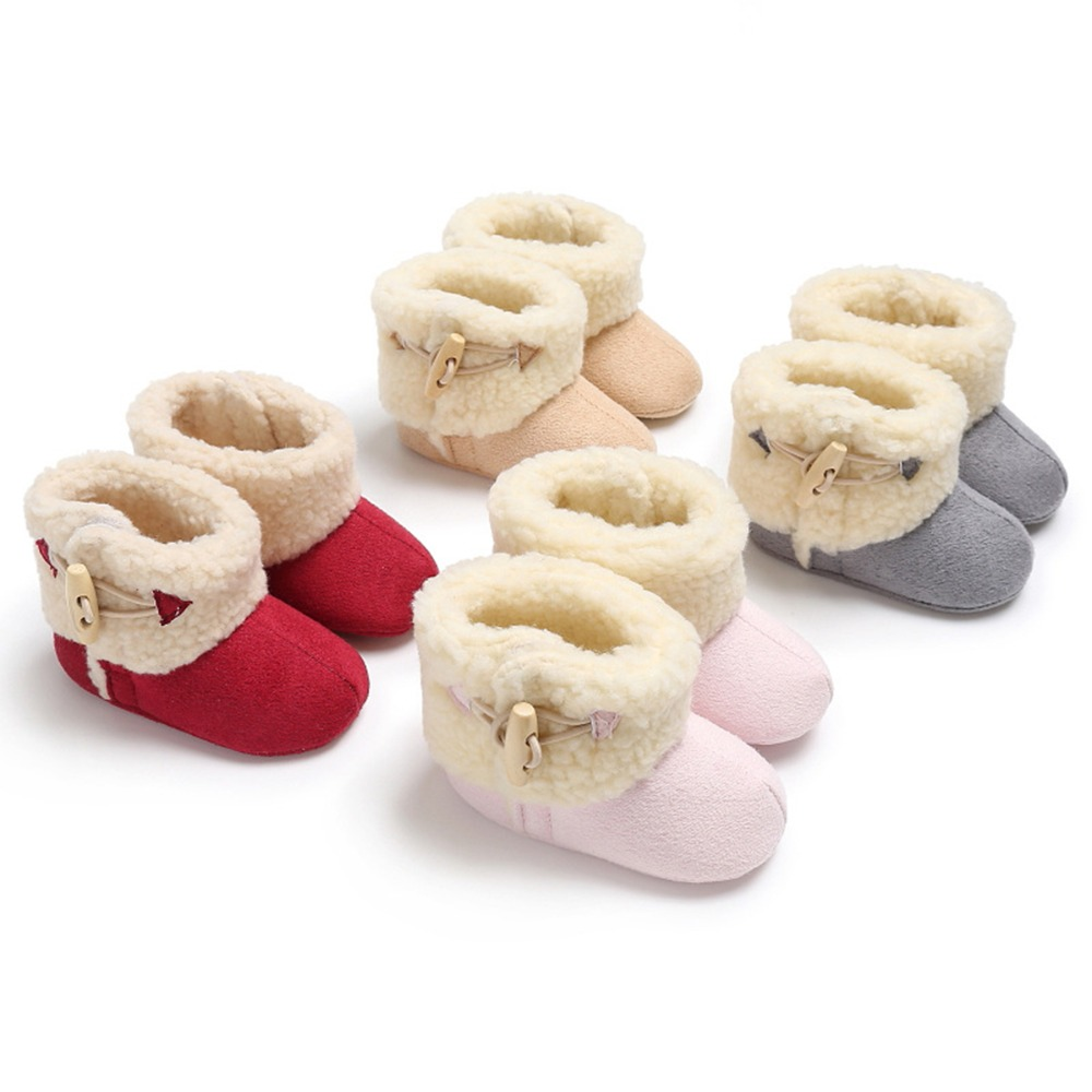 Puseky Thick Warm Winter Boots Newborn Baby Boys Girls Thermal Fabric Rubber Shoes Infants Non-slip Snow Boots Kids Xmas Gifts