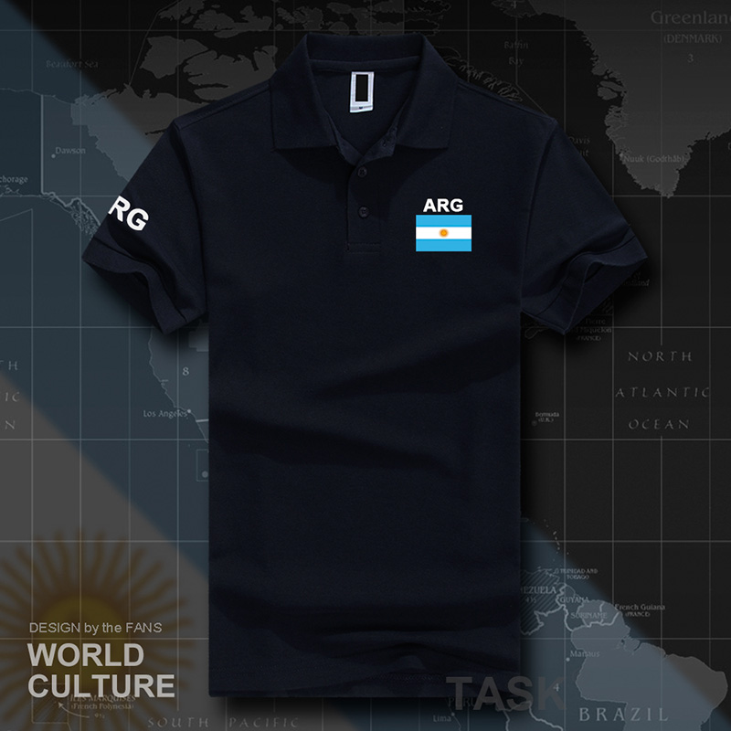 Argentina  Argentine Polo Shirts Men Short Sleeve White Brands Printed For Country 2017 Cotton Nation Team Flag New Fashion AR