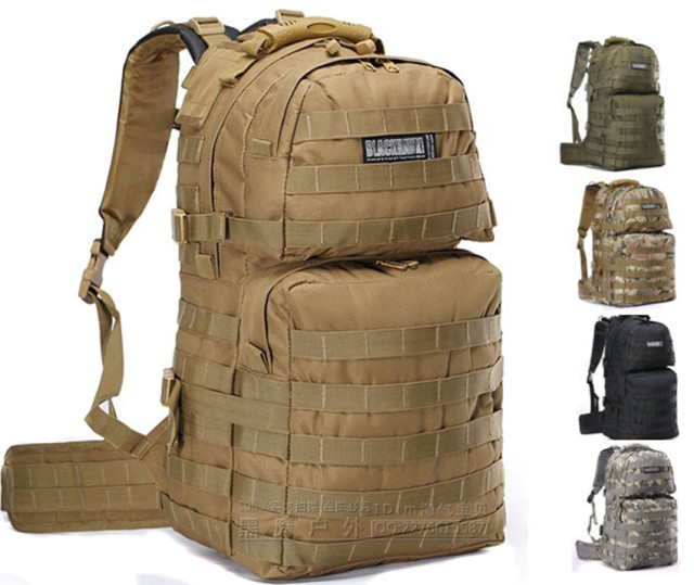 Blackhawk Assault Bag Tactical Backpack Package With Hiking Supplies Travel