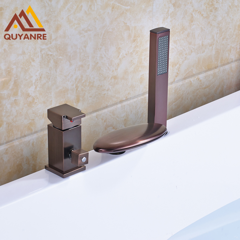 New Arrivel Deck Mouned Shower Faucet Waterfall Spout Hot And Cold Water Tap Oil Rubbed Bronze