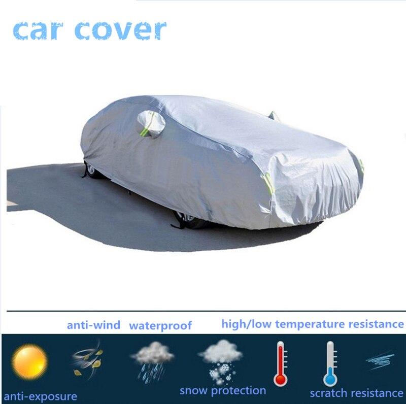 D4K épaissir la bâche de voiture de flocage à haute densité, imperméable à l'eau, anti-poussière, accessoires extérieurs d'automobile résistant à la grêle, anti granizo