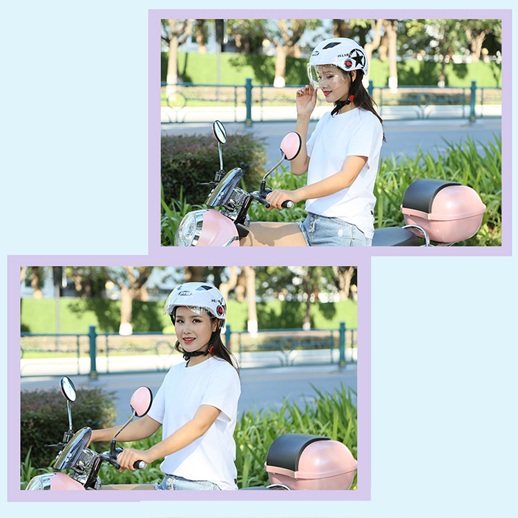Image 5 - Motorcycle Helmet Open Face Half Baseball Cap Scooter Bike Anti UV Safety Hard Hat Motocross Helmet Multiple Color Head Protect-in Helmets from Automobiles & Motorcycles