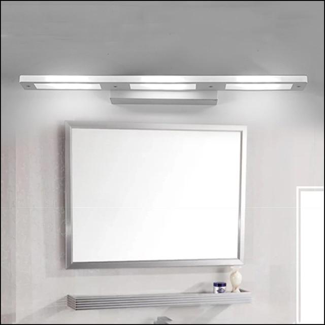 Moderna breve led specchio bagno specchio di vetro cosmetici lampada antimist impermeabile - Applique bagno specchio ...