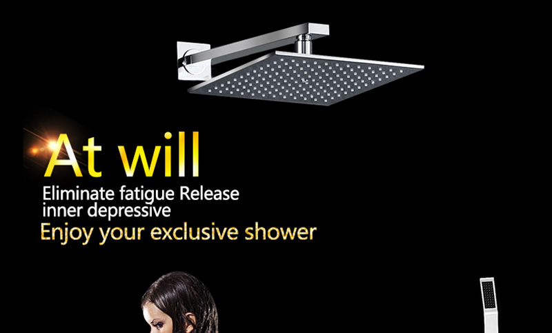 Thermostatic Bath Room Shower Faucets Shower Head 6 Massage Jets Spa Body Spray Shower Set (1)