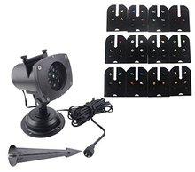 12 горки Светодиодные Пейзаж Проектор Свет, автоматически Проекционной Лампы Night Light для Крытый/Открытый Сад