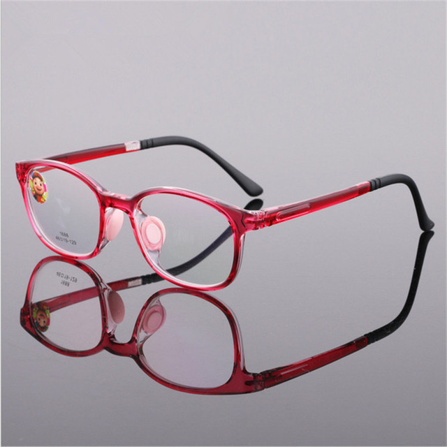 1f9f68ab81 TR90 Glasses Boy Girl Eyeglasses Lightweight Flexible Eyewear Frame  Children Prescription Glasses frame Silicone nose care