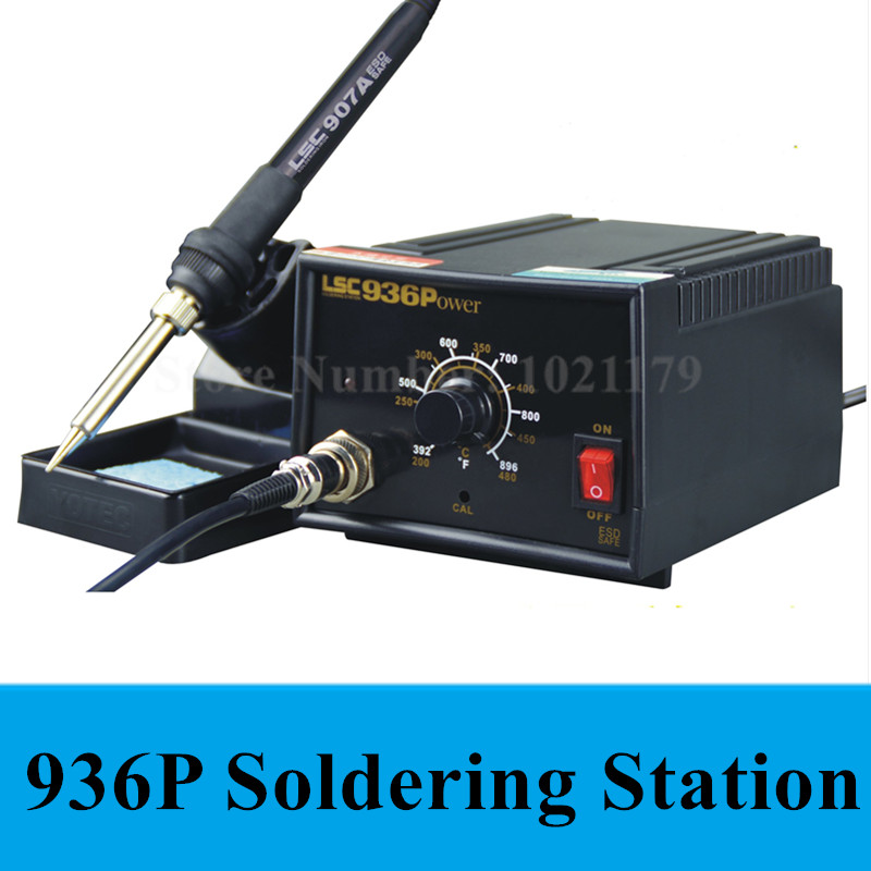 New 936 anti-static Adjustable thermostat 110V 220V electric iron soldering welding station soldering iron Free shipping