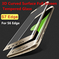 3D Curved Full Cover Premium Tempered Glass Screen Protector phone case For Samsung Galaxy S6 Edge plus S7 Edge Protective Film