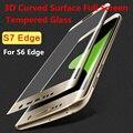 Curvo 3D Cobertura Completa Premium Vidro Temperado Protetor de Tela do telefone case para samsung galaxy s6 edge plus s7 edge protetora filme