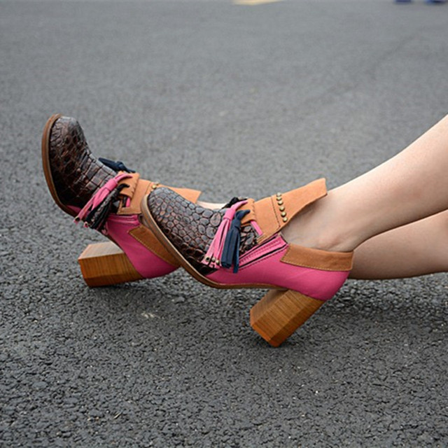 Women's Genuine Leather Fringe Cowboy Shoes