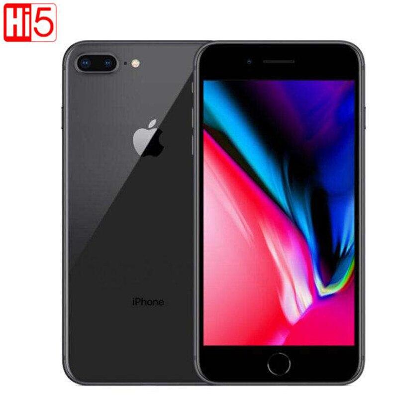 Desbloqueado apple iphone 8 plus telefone móvel 64g/256g rom 12.0 mp impressão digital ios 11 4g lte smartphone 1080 p tela de 4.7 polegadas