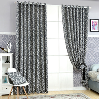 Free Shipping Curtains Simple Window Home Design Curtains Blind Decoration Geometric Living Jacquard Modern Room Curtains