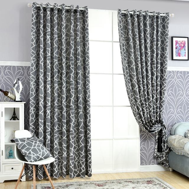 Free Shipping Curtains Simple Window Home Design Blind Decoration Geometric Living Jacquard Modern Room