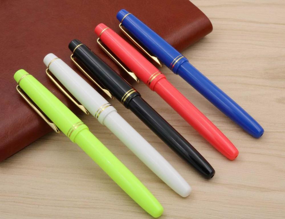 Student Pen Classic Rotation Design Stationary School Writing 358 Golden Plastic Fountain Pen