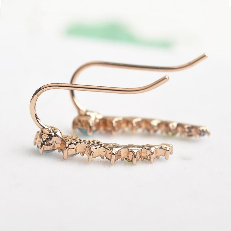 USTAR Πολύχρωμα Ζιργκόν κρύσταλλα Stud - Κοσμήματα μόδας - Φωτογραφία 3